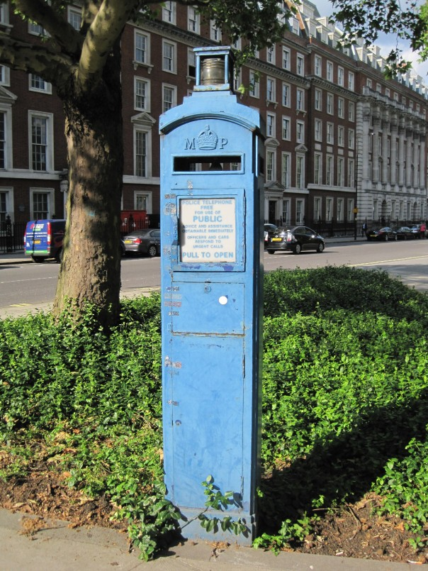 Grosvenor Square police telephone post © Memoirs Of A Metro Girl 2012