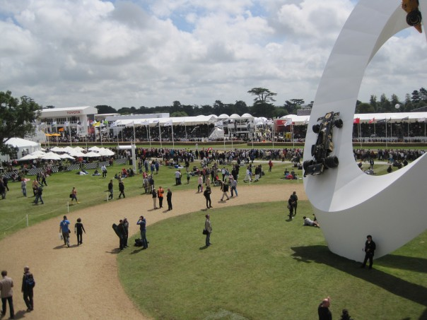 View of race track from Goodwood House balcony © Memoirs Of A Metro Girl 2012