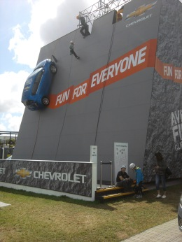 Chevrolet abseiling © Memoirs Of A Metro Girl 2012