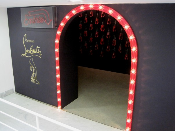 Louboutin entrance © Memoirs Of A Metro Girl 2012