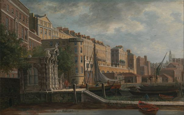 The York Water Gate and The Adelphi as painted by Daniel Turner
