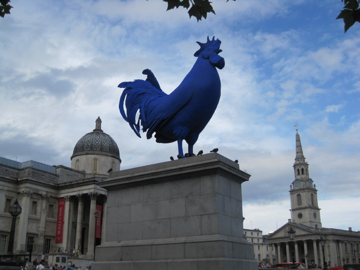 Blue cock Fourth Plinth © Memoirs Of A Metro Girl 2013