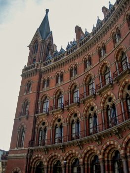 St Pancras exterior Gilbert Scott © Memoirs Of A Metro Girl 2013