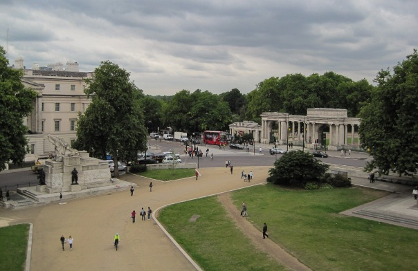 Wellington Arch view from the top © Memoirs Of A Metro Girl 2013
