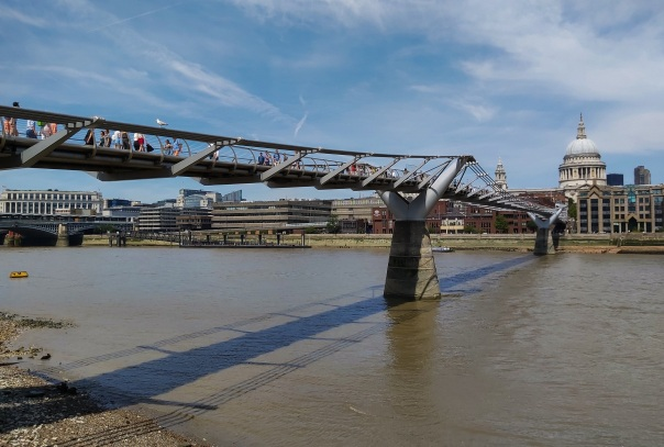Millennium Bridge Shard Thames © Memoirs Of A Metro Girl 2014