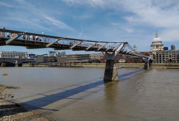 Millennium Bridge Shard Thames © Memoirs Of A Metro Girl 2014