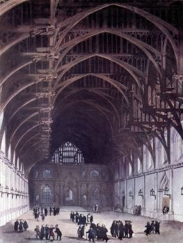 Westminster Hall in 1810 (image from Wikimedia Commons)