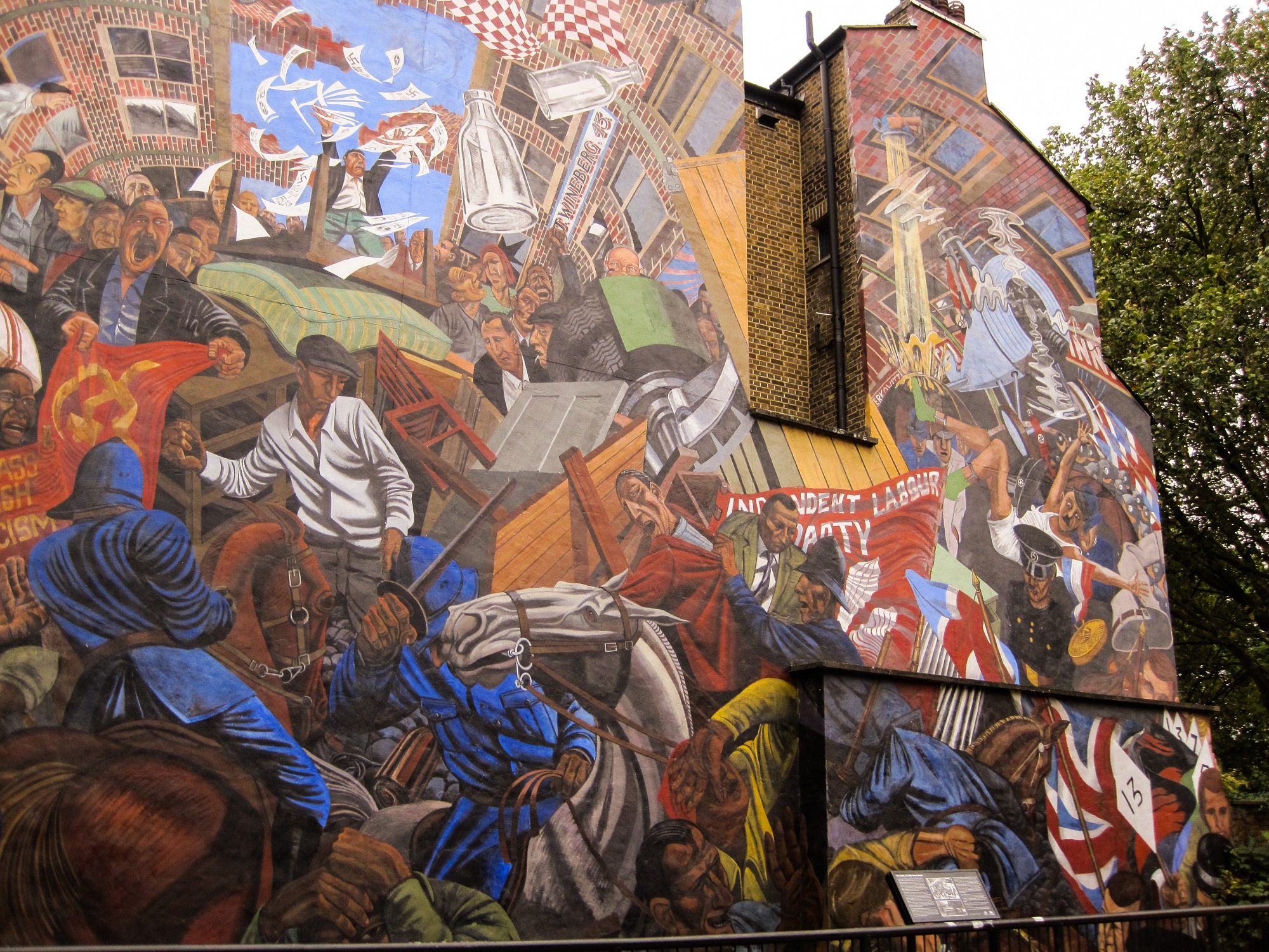 They shall not pass fighting the fascists on the battle for Cable street mural
