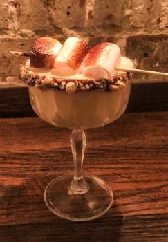 A Marshmallow Martini at Brick & Liquor