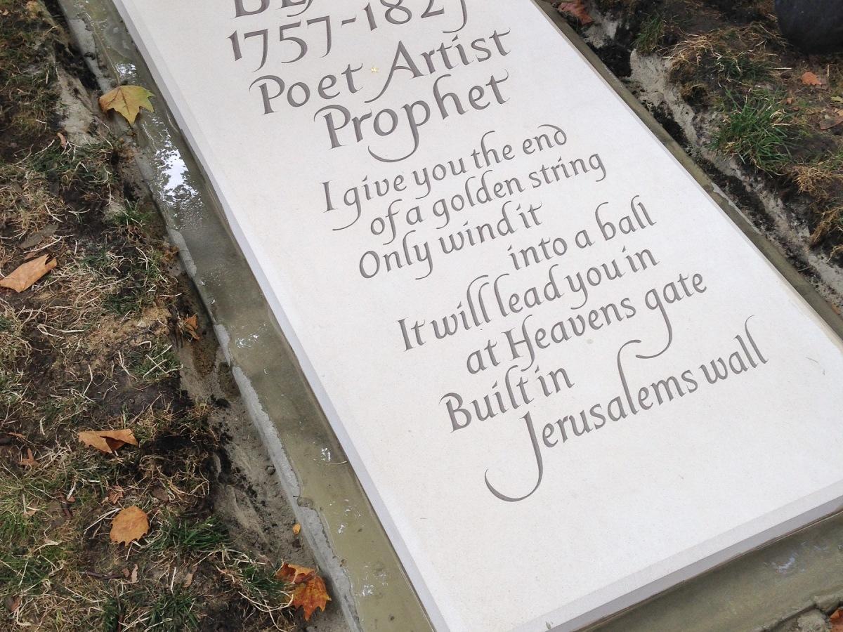 William Blake gravestone © James Murray-White