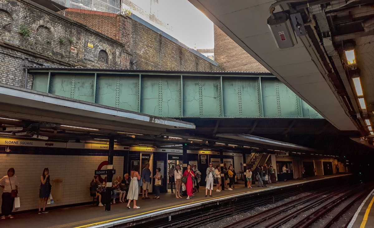 The river runs through it: Have you spotted the river in Sloane Square tube station?