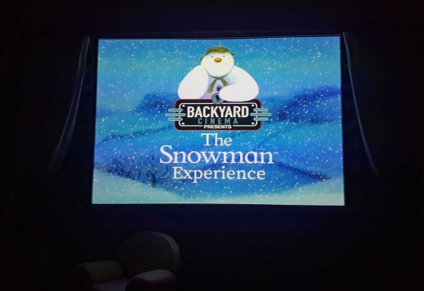 Backyard Cinema Snowman Experience