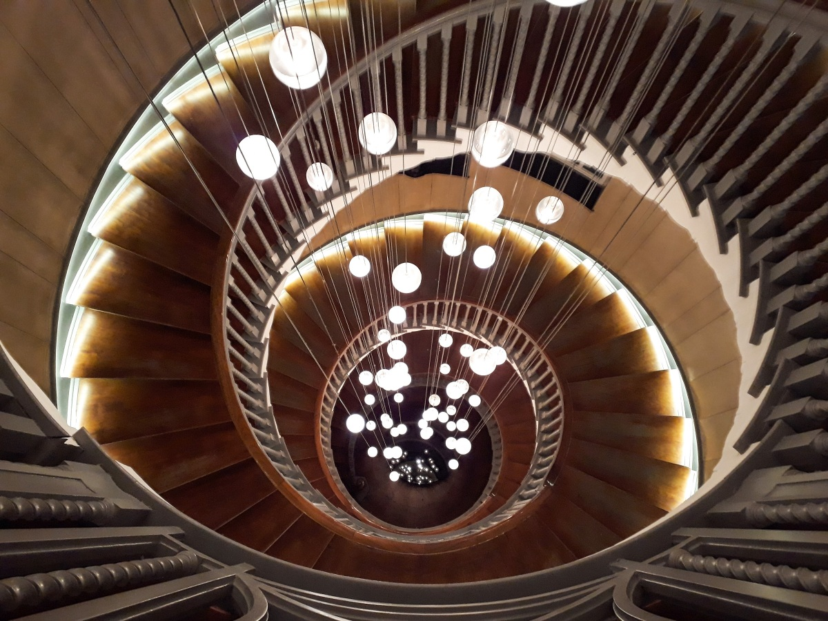 Gaze up (or down) the stunning Brewer staircase at Heal's