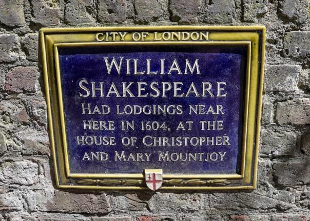 Shakespeare plaque Mountjoy © Memoirs Of A Metro Girl 2020
