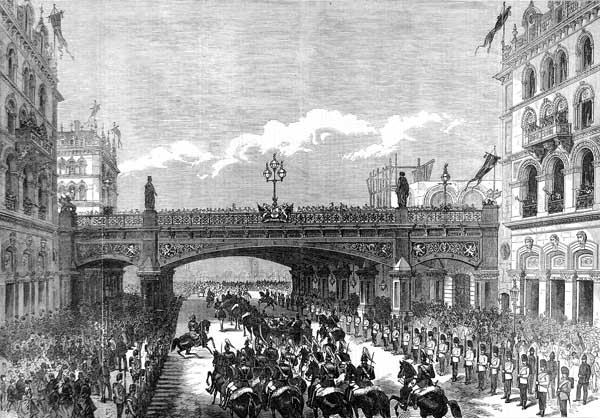Holborn Viaduct © Illustrated London News. Image from Wikimedia Commons