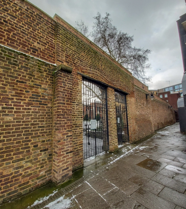 Former wall of Marshalsea Prison in Borough