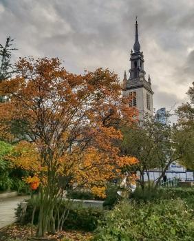 St Augustine church tower autumn © Memoirs Of A Metro Girl 2020