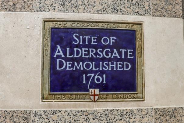 Aldersgate sign © Memoirs Of A Metro Girl 2020