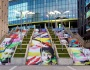 New art installation 'One in Four' on the Spanish Steps in Wembley Park