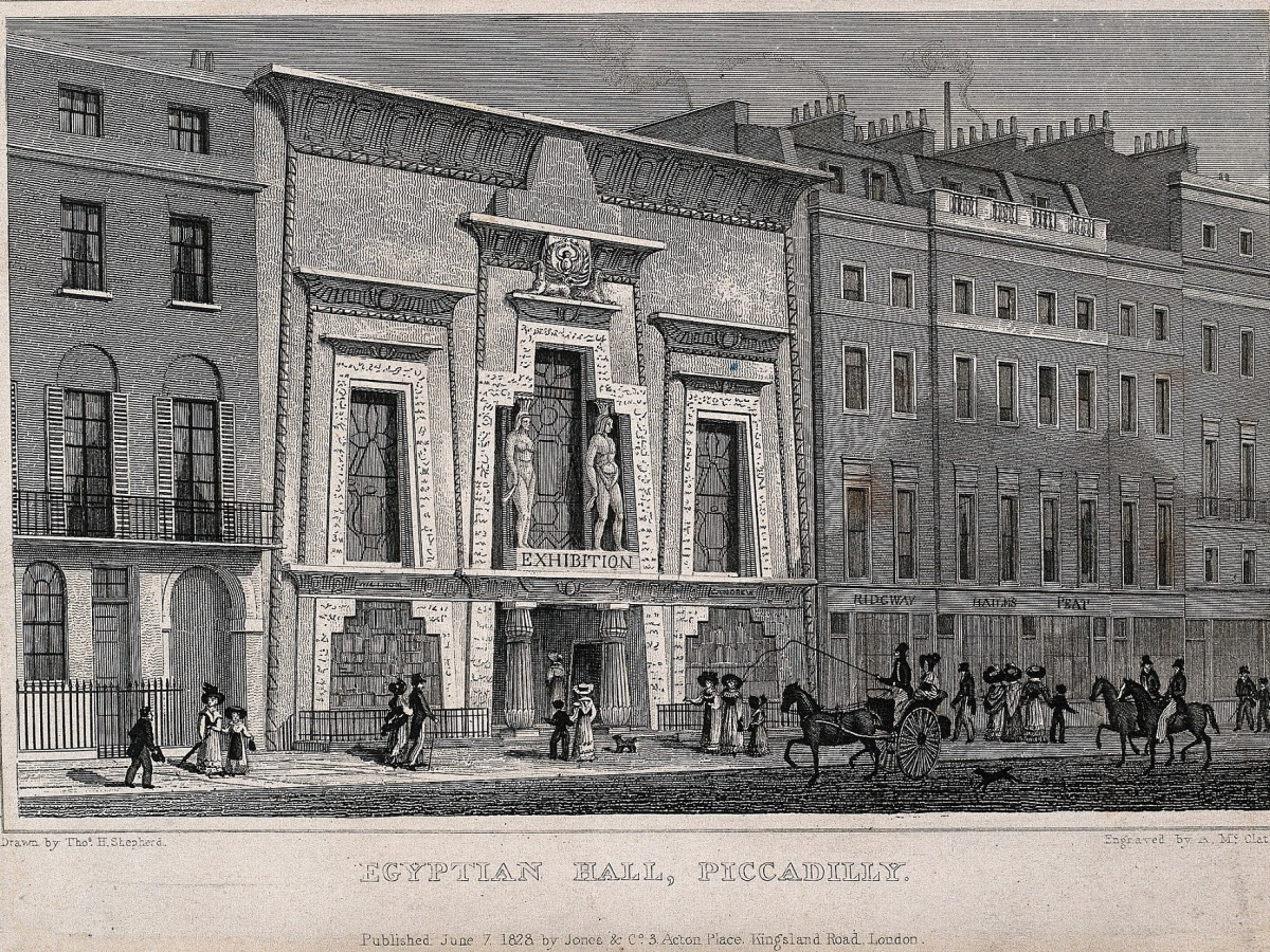 Egyptian Hall A. McClatchy, 1828 Wellcome Images