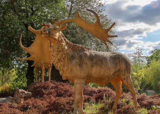 Crystal Palace Dinosaurs Megaloceros © Memoirs Of A Metro Girl 2020