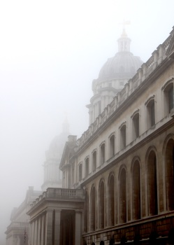 Greenwich Domes in fog