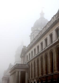Greenwich Domes in fog