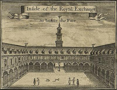 first Royal Exchange © Wikimedia Commons