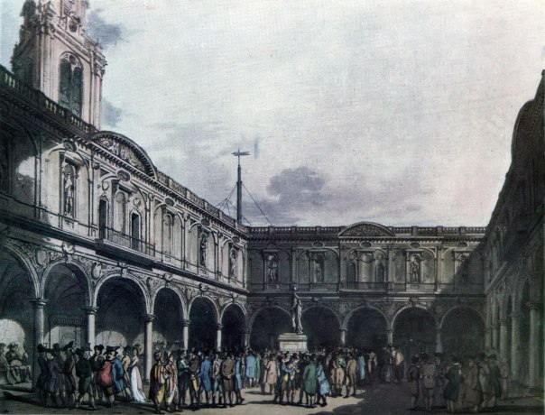 The 2nd Royal Exchange in London 1810