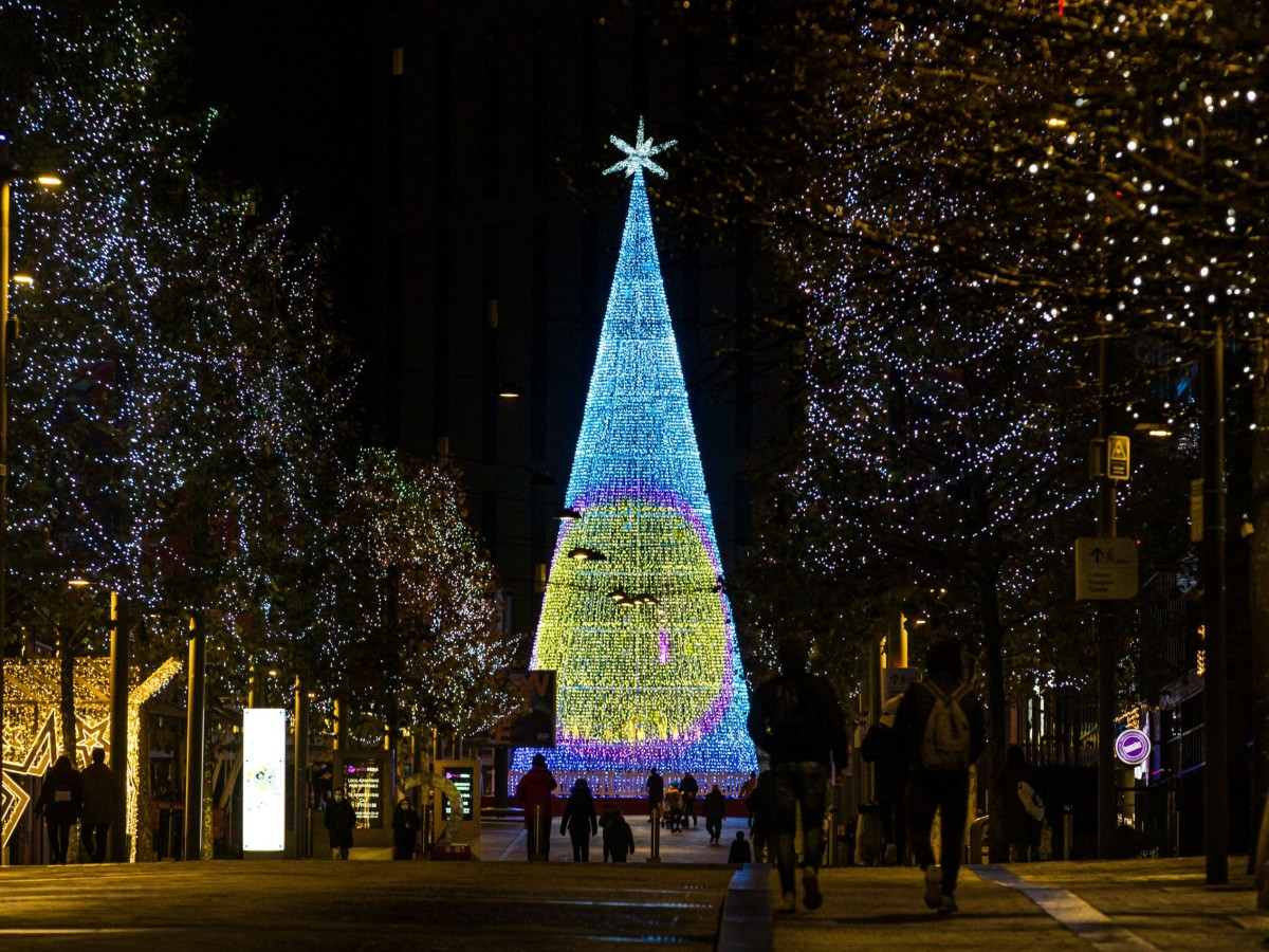 Largest LED Christmas tree at Wembley Park Winterfest